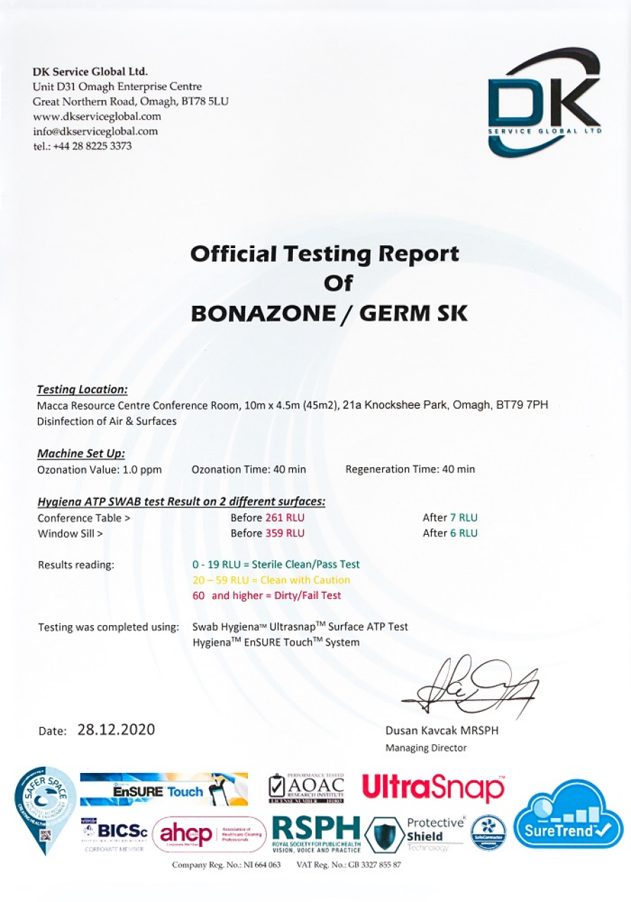 official testing report